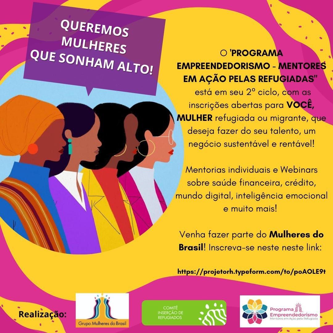 Programa de empreendedorismo direcionada para mulheres refugiadas